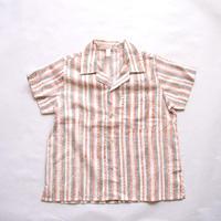 KIDS ブロックプリント半袖シャツ 100
