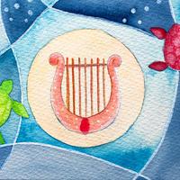 5/2ホロスコープアート「海の竪琴」