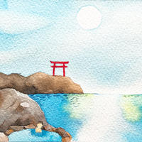 4/6ホロスコープアート:海の温泉でほっこり休憩