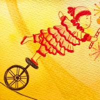 5/28ホロスコープアート:夢の世界で踊るピエロ