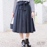 ウエストリボンボリュームフレアスカート