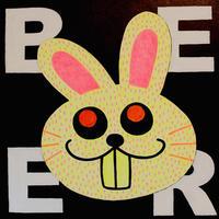複製画パネル「BEER RABBIT」#015 キャンパス SQUARE