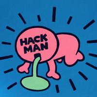 複製画パネル「HACKMAN」#028 キャンパス (F3)