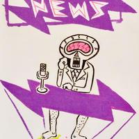 複製画パネル「NEWS CASTER」#006 キャンパス (F15)