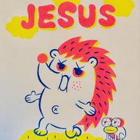 複製画パネル「JESUS」#018 キャンパス (F3)