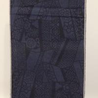【本場結城紬】反物/藍/紬印/証紙付