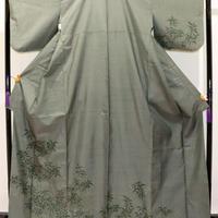 【本場大島紬】グリーン/絵羽/織と染