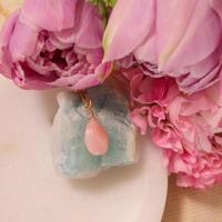 -Pink Opal-  Amuletペンダントトップ L