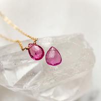 -Vivid Pink  Tourmaline-  ネックレス