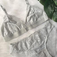 silver gray bralette set up