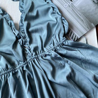 smoky blue night dress 【N-0001】
