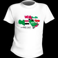 【在庫処分!!】55%OFFの1575円! 中東MAP Tシャツ