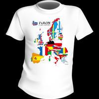 ヨーロッパMAP Tシャツ