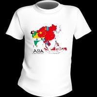 【在庫処分!!】55%OFFの1575円! アジアMAP Tシャツ