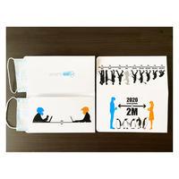 新デザイン【3枚入り】抗菌紙使用のマスクケース(二つ折りタイプ)