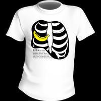 【在庫処分!!】50%OFFの1750円! 肋骨Tシャツ