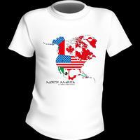 アメリカMAP Tシャツ