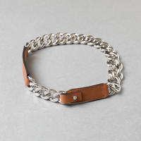 HERMES / Chain leather choker / 1000011