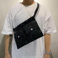 Chanel /   Old travel line nylon W pocket shoulder bag  / 2006107