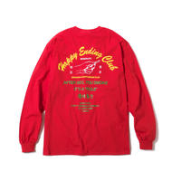 HAPPY ENDING CLUB MERCH LS TEE(RED)