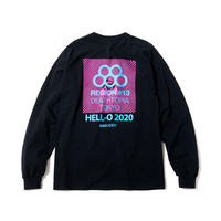OLYMPIA LS TEE(BLACK 1 BLUE)