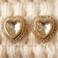 pretty heart earring/pierce