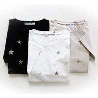 星刺繍 半袖Tシャツ ロイヤルクール