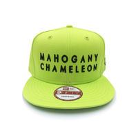"""""""MAHOGANY CHAMELEON"""" NEWERA 9Fifty SNAPBACK CAP  (NEON GREEN)"""