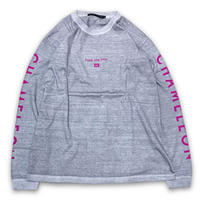 """F**k one time"" DIRTY DYED L/S T-SHIRTS (RUBY)"
