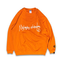 """OLD TAGGING"" CREW SWEAT (ORANGE)"