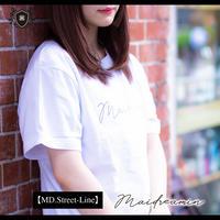 【MD.Street-Line】maidreaminオリジナルTシャツ(ホワイト/白)【即納】〈100-005A-00012〉