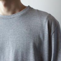 combed yarn/ enbroidery mark tshirt/heather gray/size2