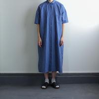 original cotton linen stripe/ one piece/blue