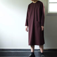 saxony wool one piece/brown