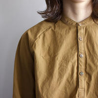 weather cloth shirt/brown