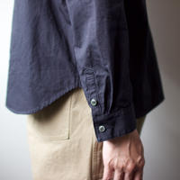 weather cloth cotton linen/raglan shirt/navy
