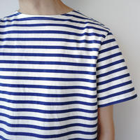 pablo cotton/center back tshirt / blue border/size1・2