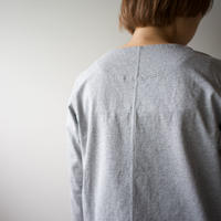 pablo cotton/center back long sleeve tshirt /gray/size1・2・ 3