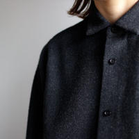 powderyarn eamirudo wool shirt/charcoal gray