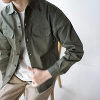 cotton ox work shirt/khaki/size2