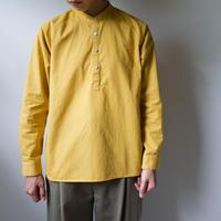 weather cloth cotton linen/raglan shirt/turmeric