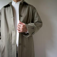 twill cotton/bal collar coat/khaki