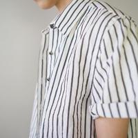 original cotton linen/ short sleeve shirt/white/size free