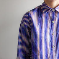 stripe shirt /blue×white×red