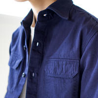 cotton ox work shirt/navy/size2