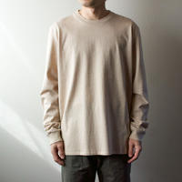 combed yarn /enbroidery mark tshirt/heather beige/size2