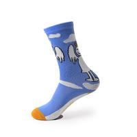2足セットかわいい天使風模様コットン綿青ソックス靴下