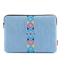 センター刺繍/デニム/スクエア/タブレット入れバッグ