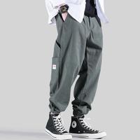 メンズシンプルなおしゃれリラックスジョガーパンツ黒/グレー/緑