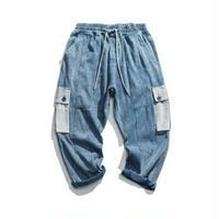 メンズ大きいポケットが魅力ロールアップも○デニムジーンズ